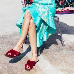 Zara NWT FURRY CRISS - CROSS SLIDES
